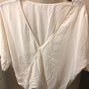 Silk blouse porcelain color NWT
